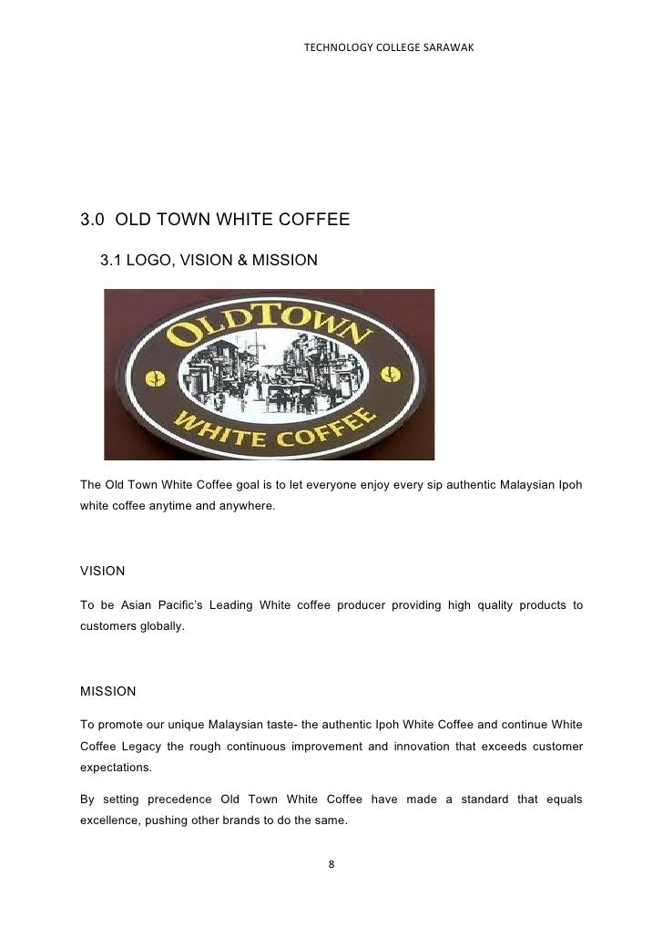 old town white coffee weakness essays Comparison of the old united nations human development index to the new   tar pits 5 force old town white coffee proposed market entry strategy essay.
