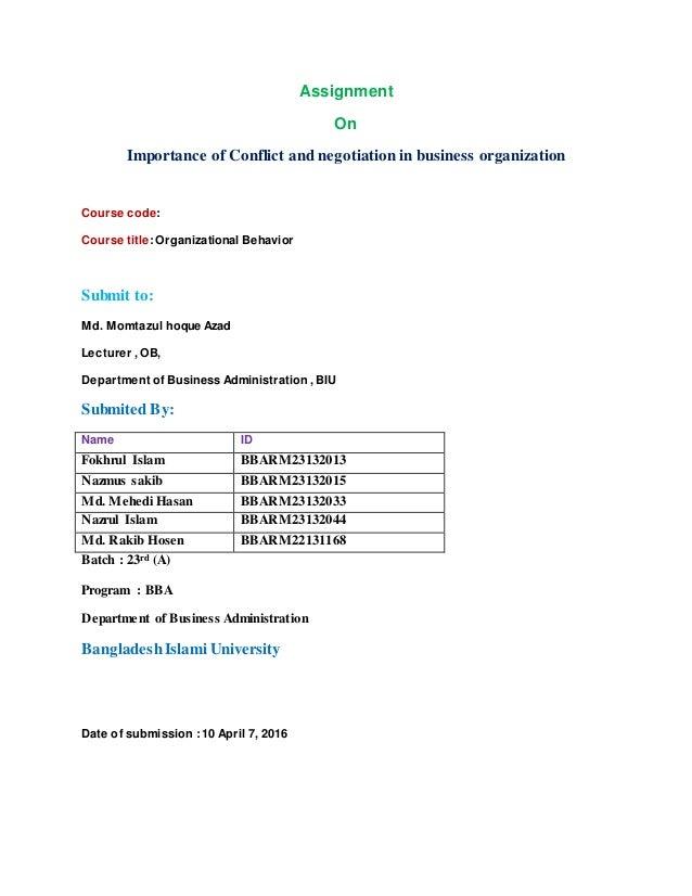 Conflict management case study business