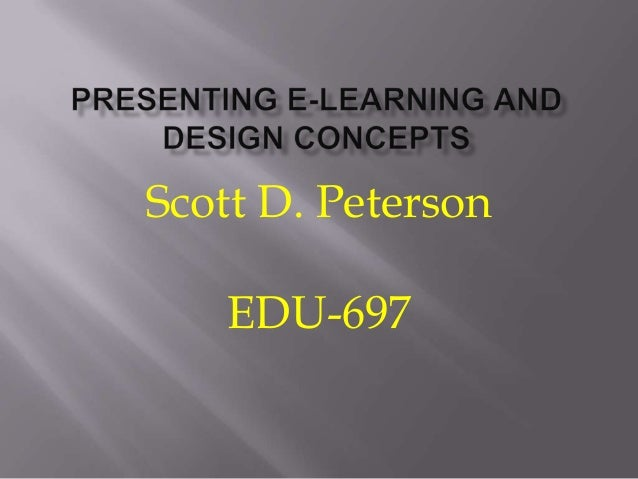 Scott D. Peterson EDU-697