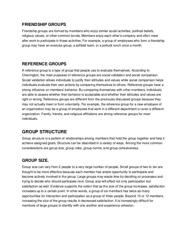 essay about working in groups Creating effective collaborative learning groups in an  or they may have become reluctant to participate based on negative past experiences of working with an.