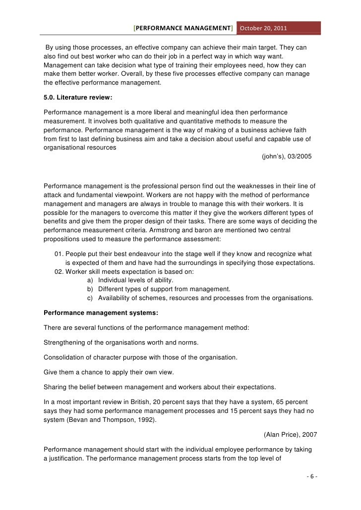 Performance appraisal assignment