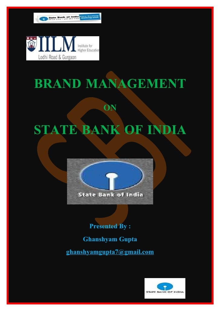 Assignment on sbi