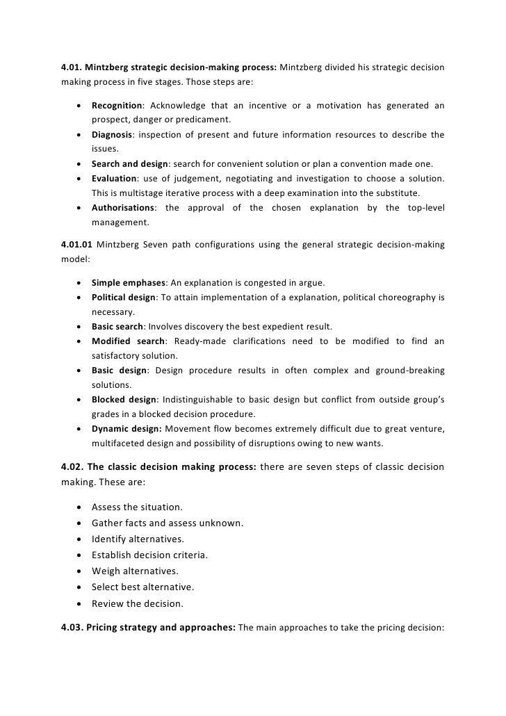 Assignment strategic management