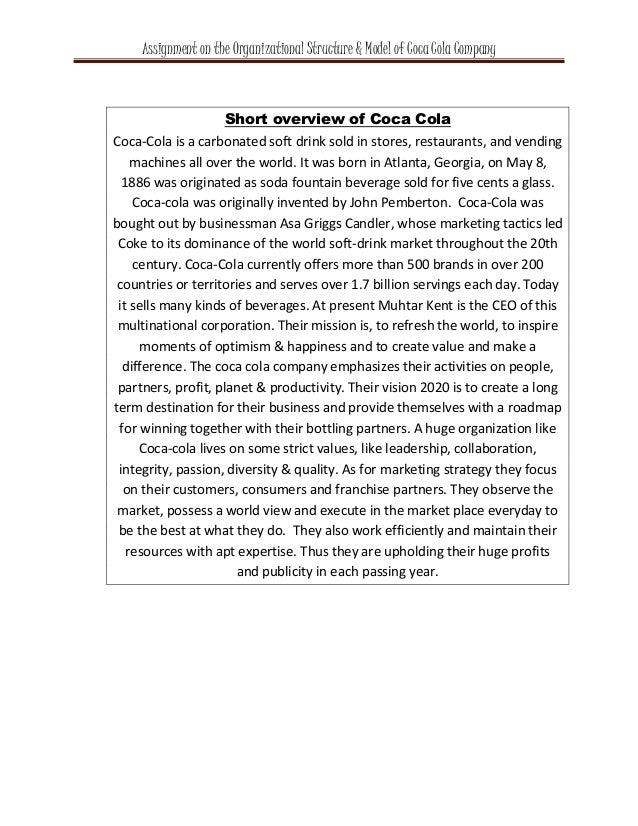 The Market Structure of the Coca-Cola Company