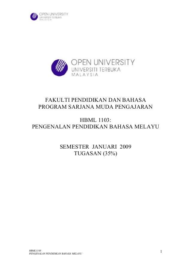 Assignment pengenalan bm sem jan 2009