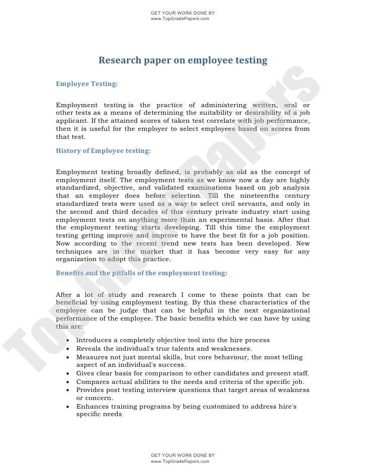 Employee drug testing essay