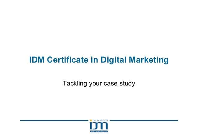 IDM Assignment revision certificate Nov '11