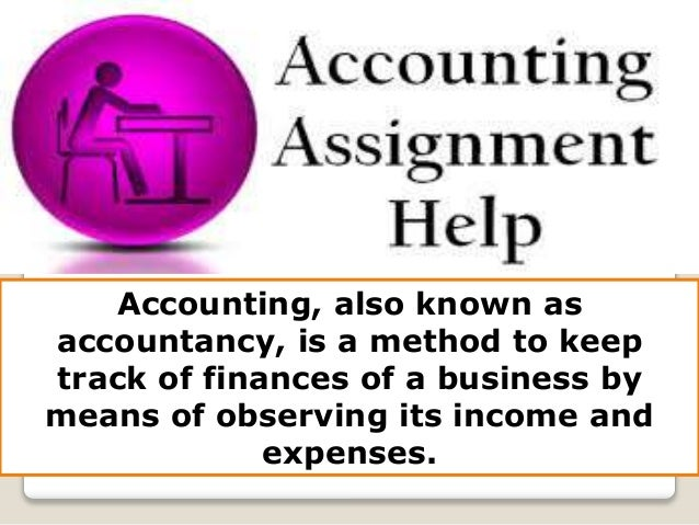 Accounting writing assignments service