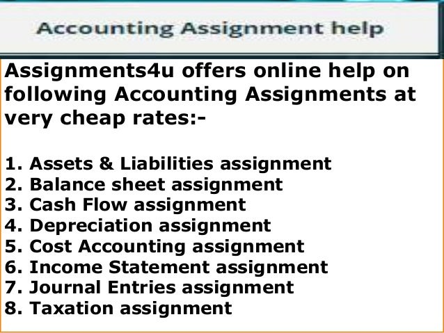 Homework help for accounting online
