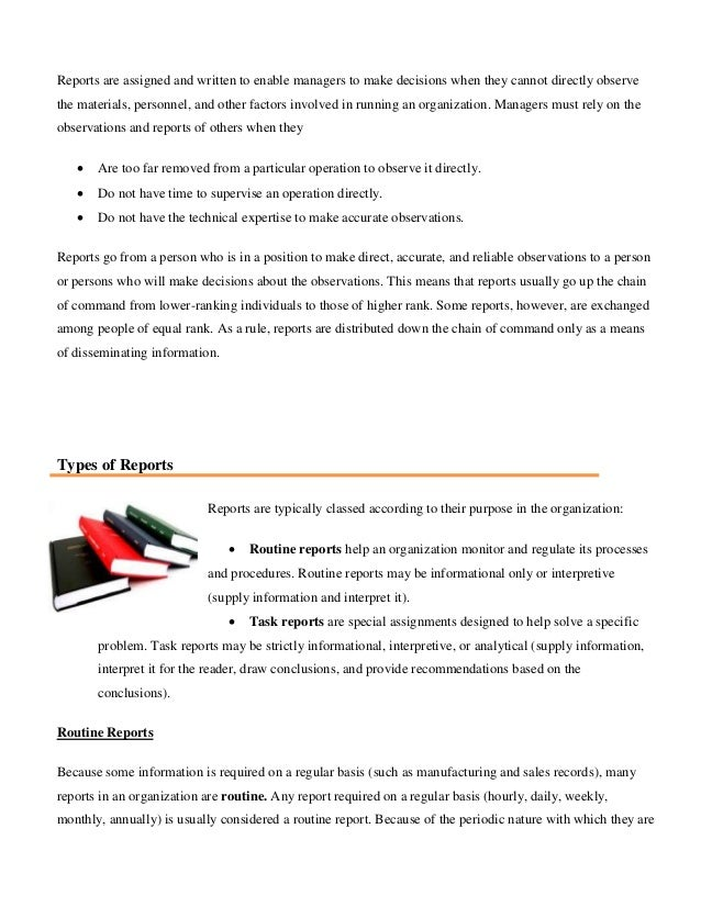 types of technical report writing Notes on report writing there was a lot of change, etc are meaningless in a technical report and are not part of an acceptable writing style.