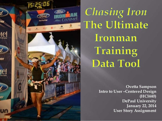 In Search of the Perfect Ironman Training App: User Story