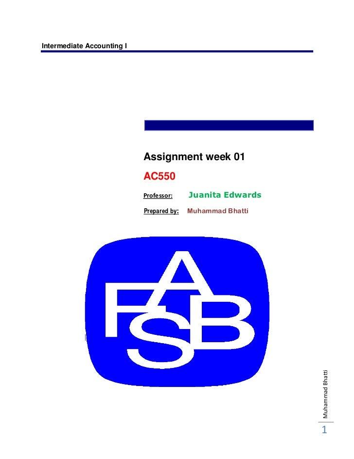Fin 334 Week One Assignment 1