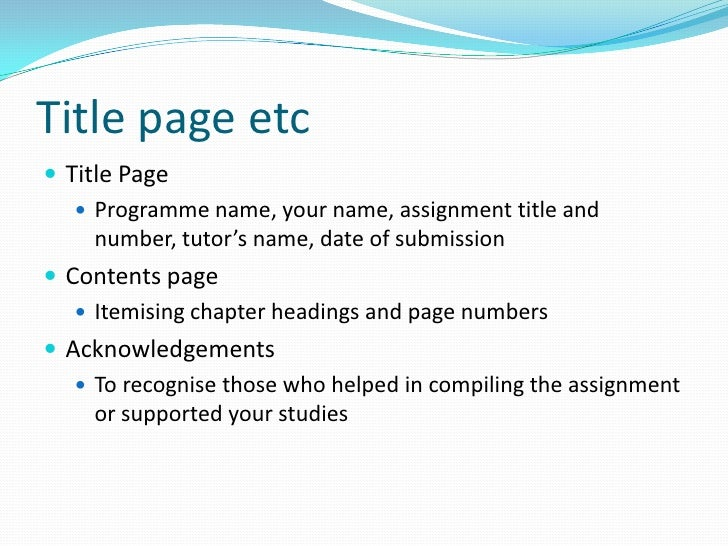 English Writing Assignments