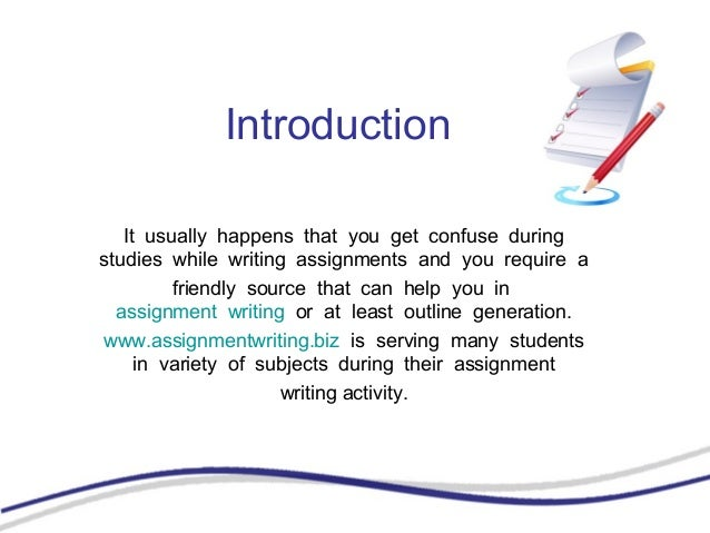 Writing a assignment