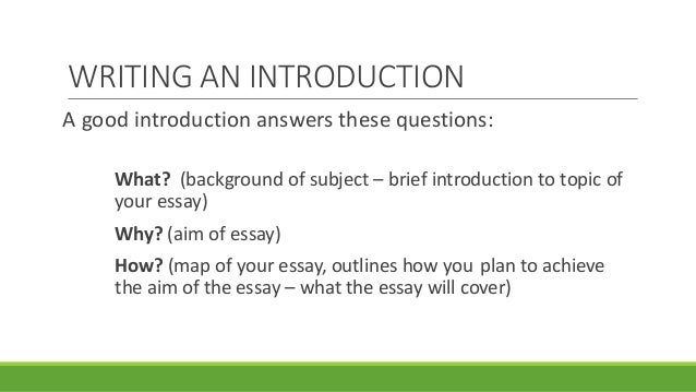 writing a essay introduction example context