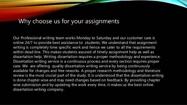 Provide assignments writing service