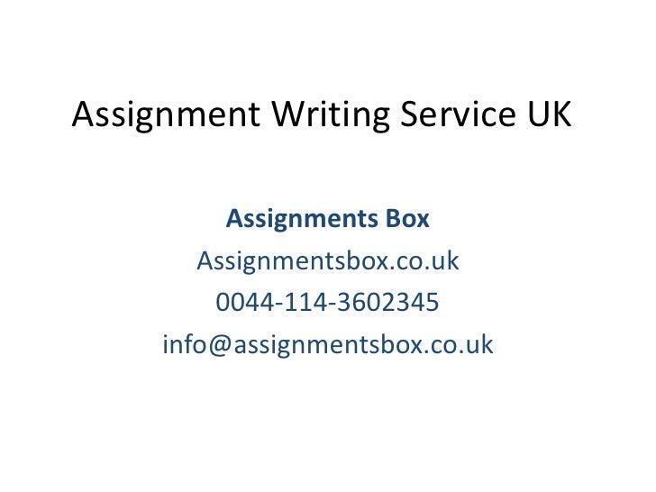assignment writing uk