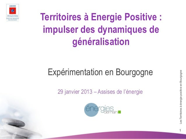 Territoires à énergie positive: expérimentation en Bourgogne