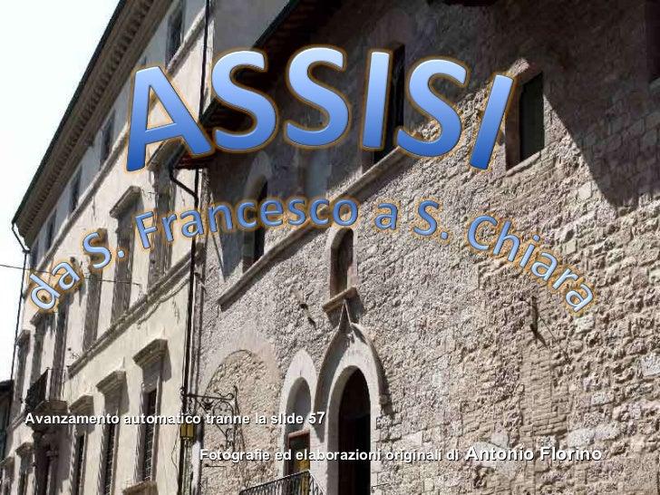 Assisi da s.francesco a s. chiara
