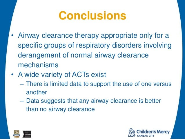 Conclusion paragraph on respiratory therapy?