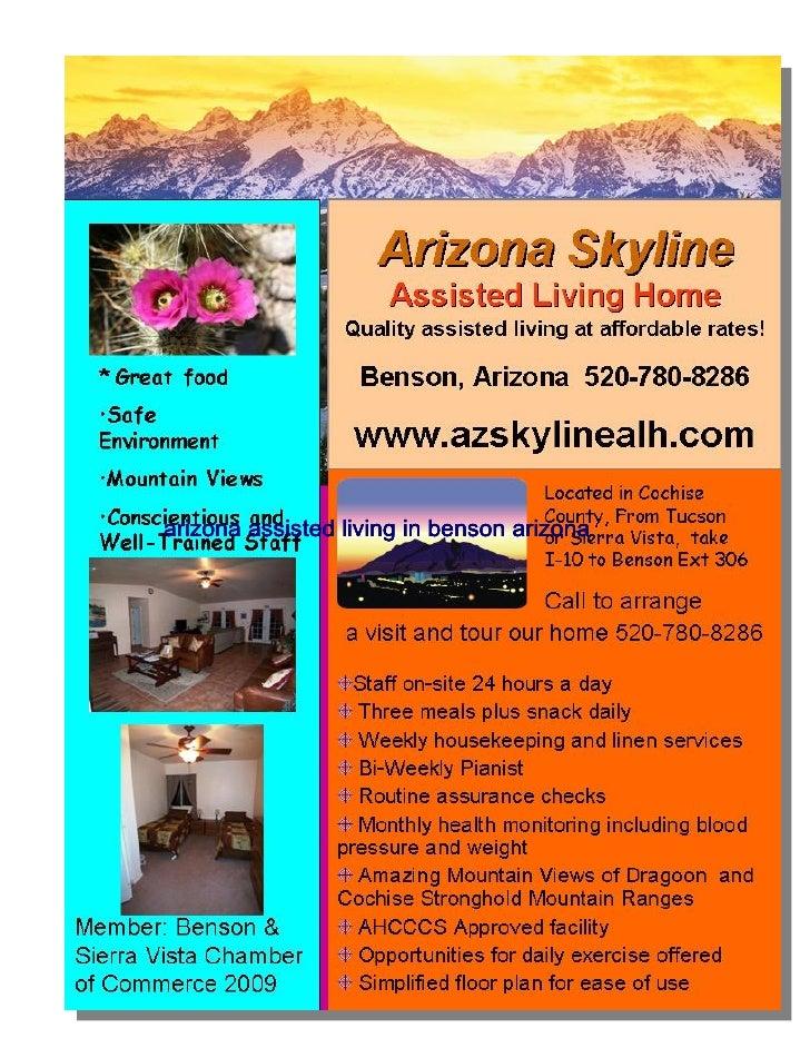arizona assisted living in benson arizona
