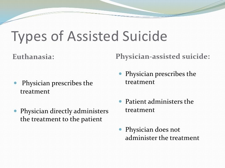 physician assisted suicide should be legalized in all fifty states of america But the advocates have said a decision from the state supreme court was needed before physician-assisted suicide would be suicide • of these states.