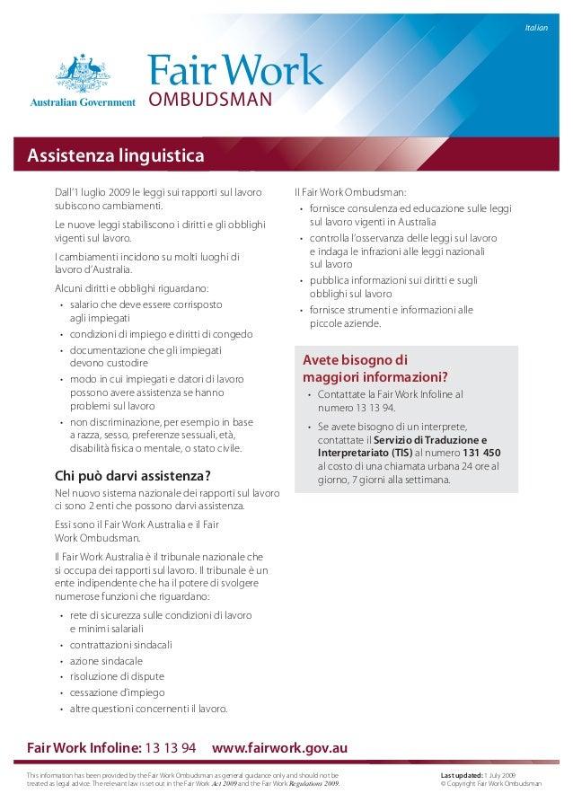 Assistenza liguistica fair works