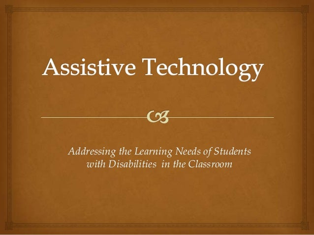 Addressing the Learning Needs of Students with Disabilities in the Classroom