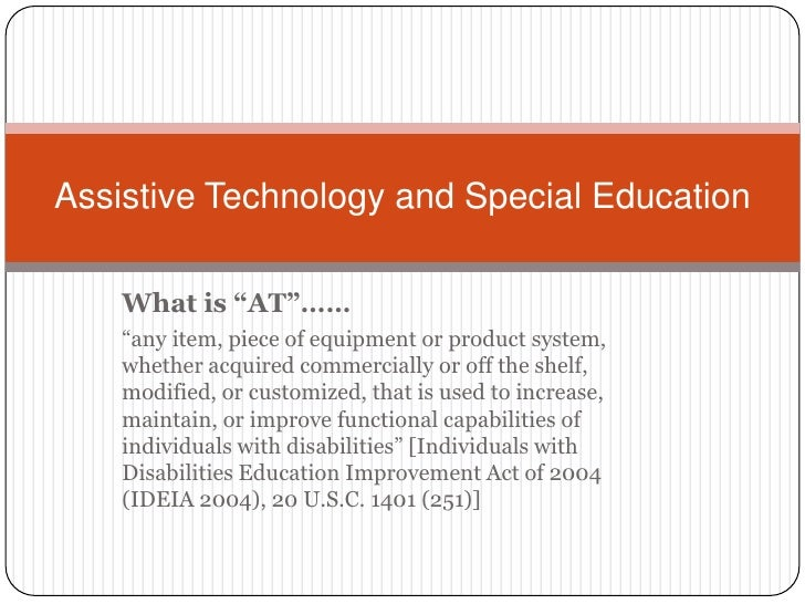 Assistive Technology And Special Education