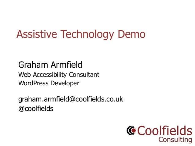 Assistive Technology Demo Londonweb