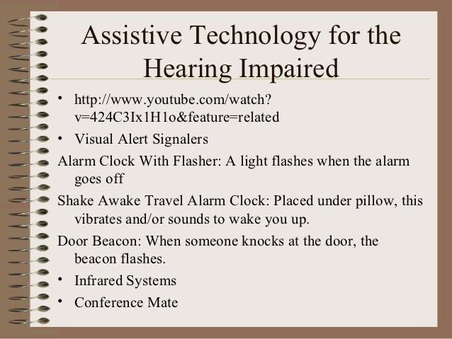 Assistive Technology For Sensory Impairments