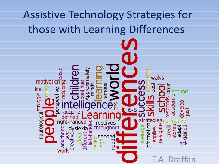 Assistive technology strategies for those with learning differences