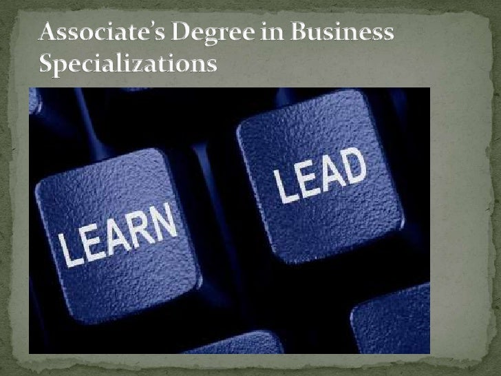 Associate's degree in business specializations