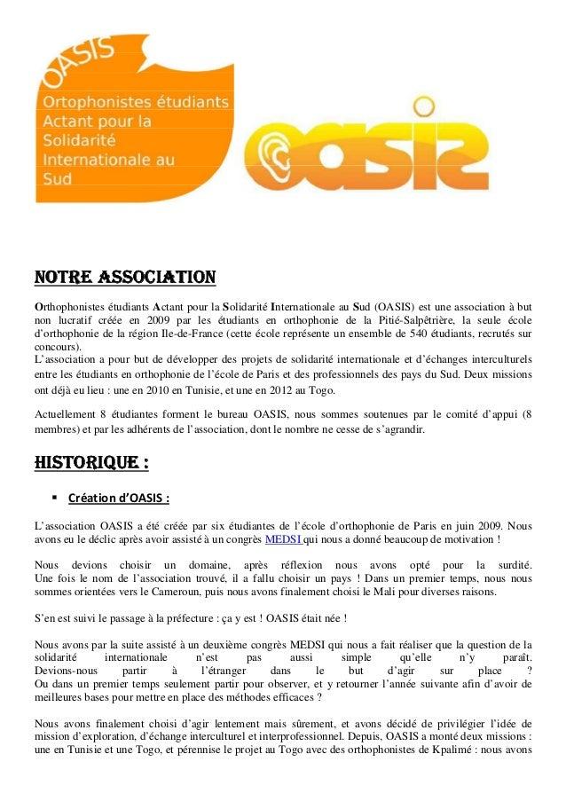 Association oasis-2013
