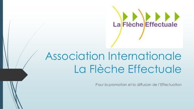 Association Internationale La Flèche Effectuale Pour la promotion et la diffusion de l'Effectuation