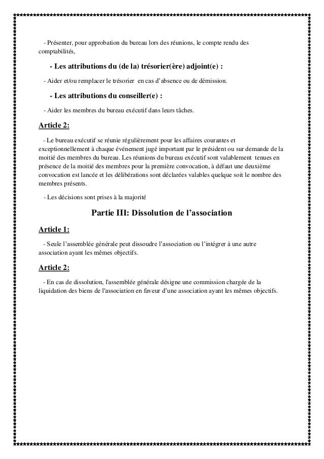 Modele convocation reunion bureau association document - Renouvellement du bureau d une association loi ...