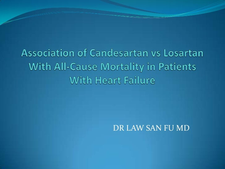 Association of candesartan vs losartan