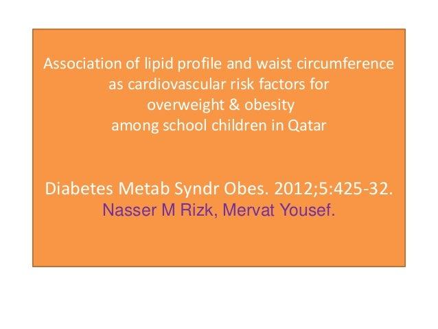 Association of lipid profile and waist circumferenc (2)