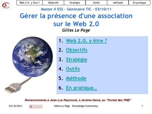 Gérer la présence d'une association sur le web2.0
