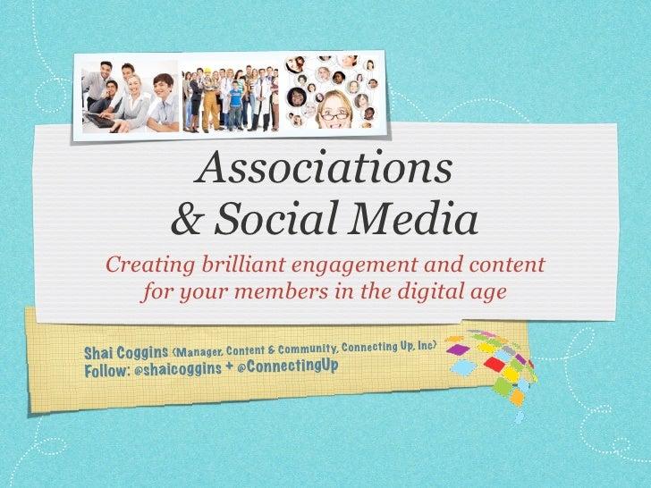 Associations & Social Media