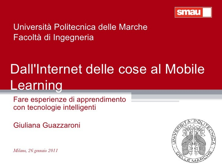 Internet delle cose, Mobile Learning, Augmented Reality