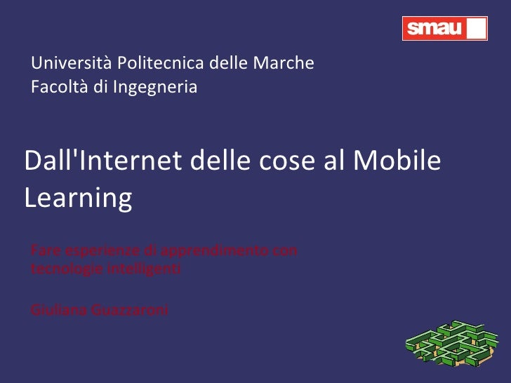 M-learning (Internet degli oggetti e realtà aumentata)