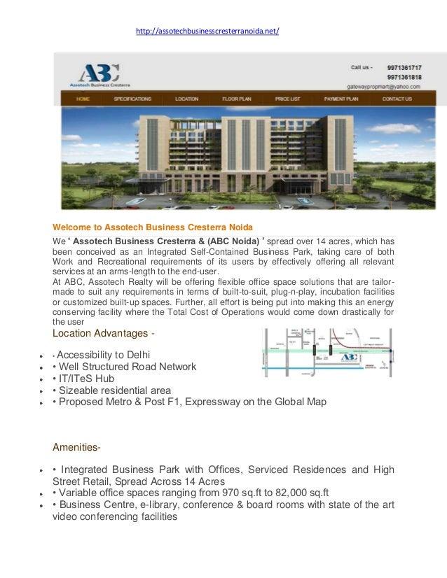 http://assotechbusinesscresterranoida.net/Welcome to Assotech Business Cresterra NoidaWe  Assotech Business Cresterra & (A...
