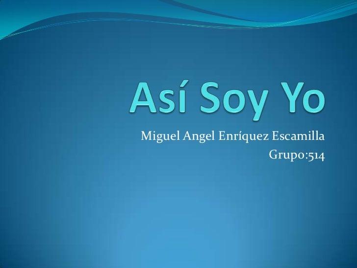 Miguel Angel Enríquez Escamilla                     Grupo:514
