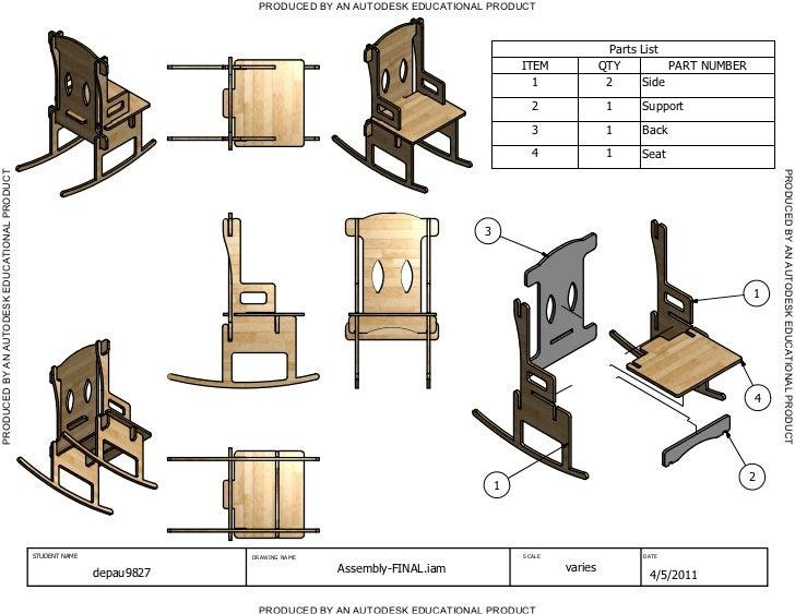 Rocking Chair Drawings
