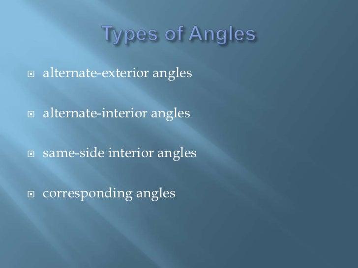 Alternate Interior Angles And Alternate Exterior Angles Alternate Exterior Angles
