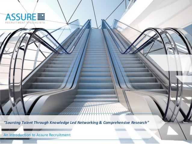 """""""Sourcing Talent Through Knowledge Led Networking & Comprehensive Research""""An introduction to Assure Recruitment          ..."""