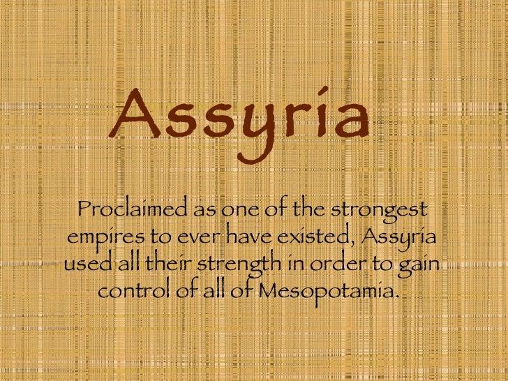Assyria Power Point Presentation