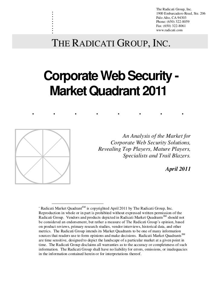 Corporate Web Security