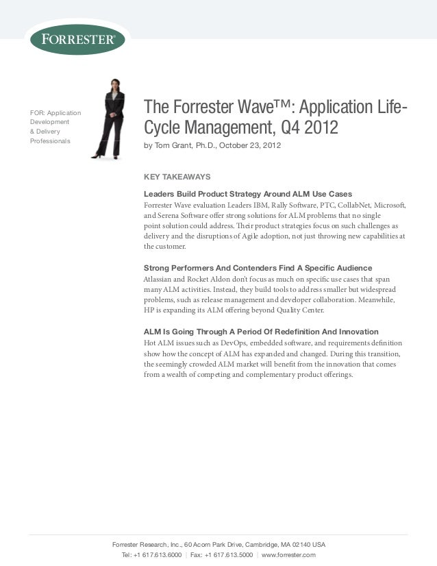 The Forrester Wave: Application Lifecycle Management Report